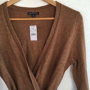 J. Crew Cotton Wool Wrap Cardigan Sweater